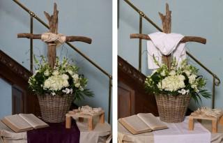 Bloemstuk van Alma Wolhuter, Goede Vrijdag en Pasen 2011