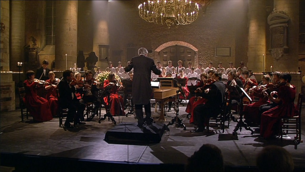 Stephen Cleobury dirigeert Messiah in de Pieterskerk Leiden, 1993