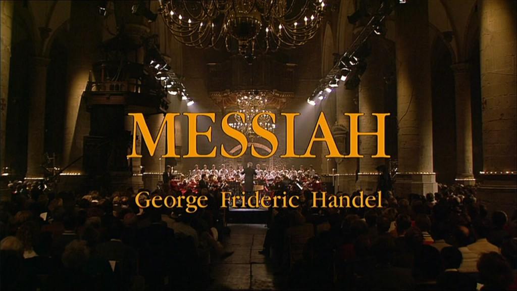 Openingsbeeld, Messiah Handel, Pieterskerk Leiden, 1993