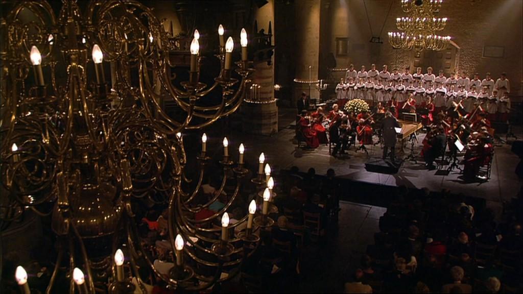 de sfeervolle Pieterskerk te Leiden1993, uitvoering van Messiah