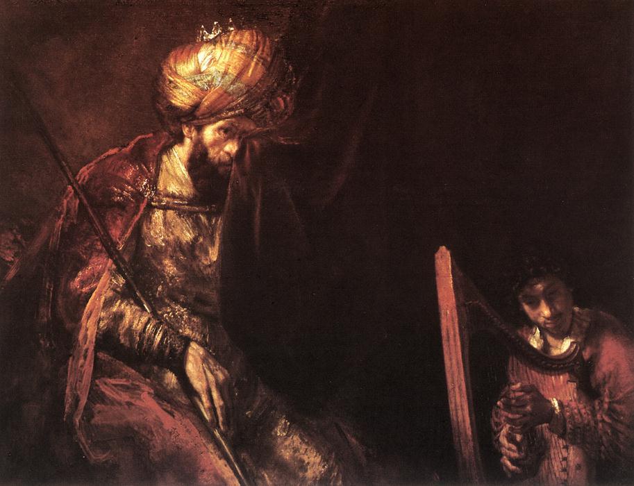 David, Israëls 'lievelingszanger', als Orfeus