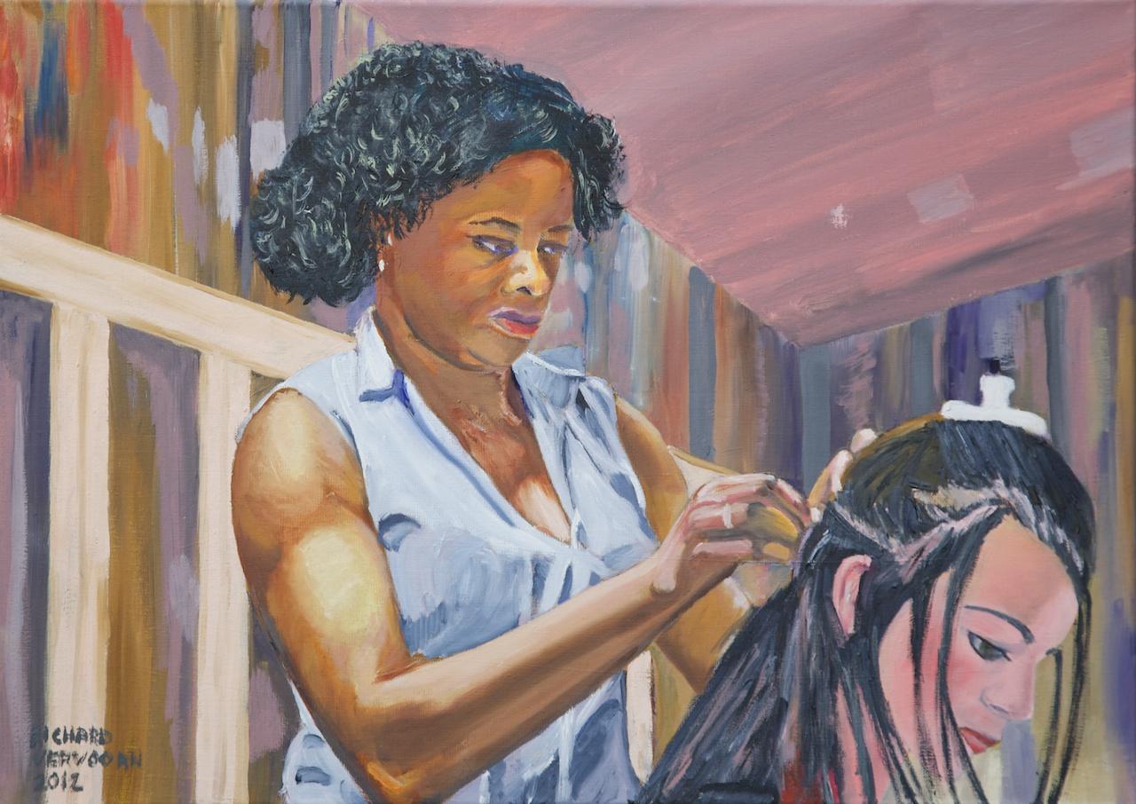 Rebecca, olieverf op linnen 70 x 50, schilderij van Richard Vervoorn, 201