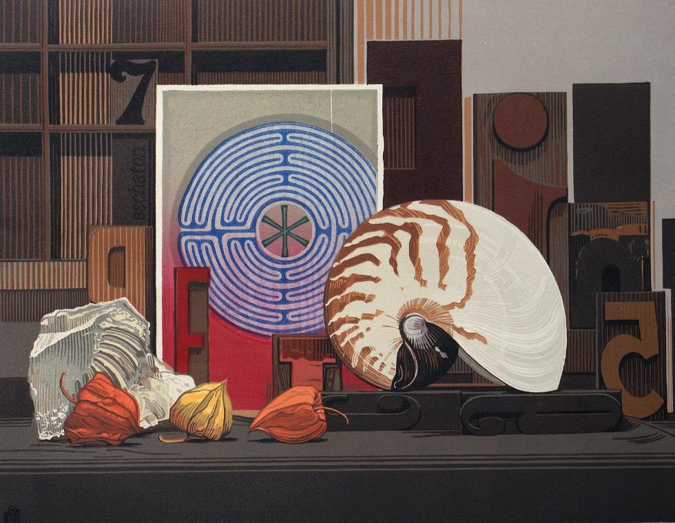 Compositie met Labyrint en Nautilus