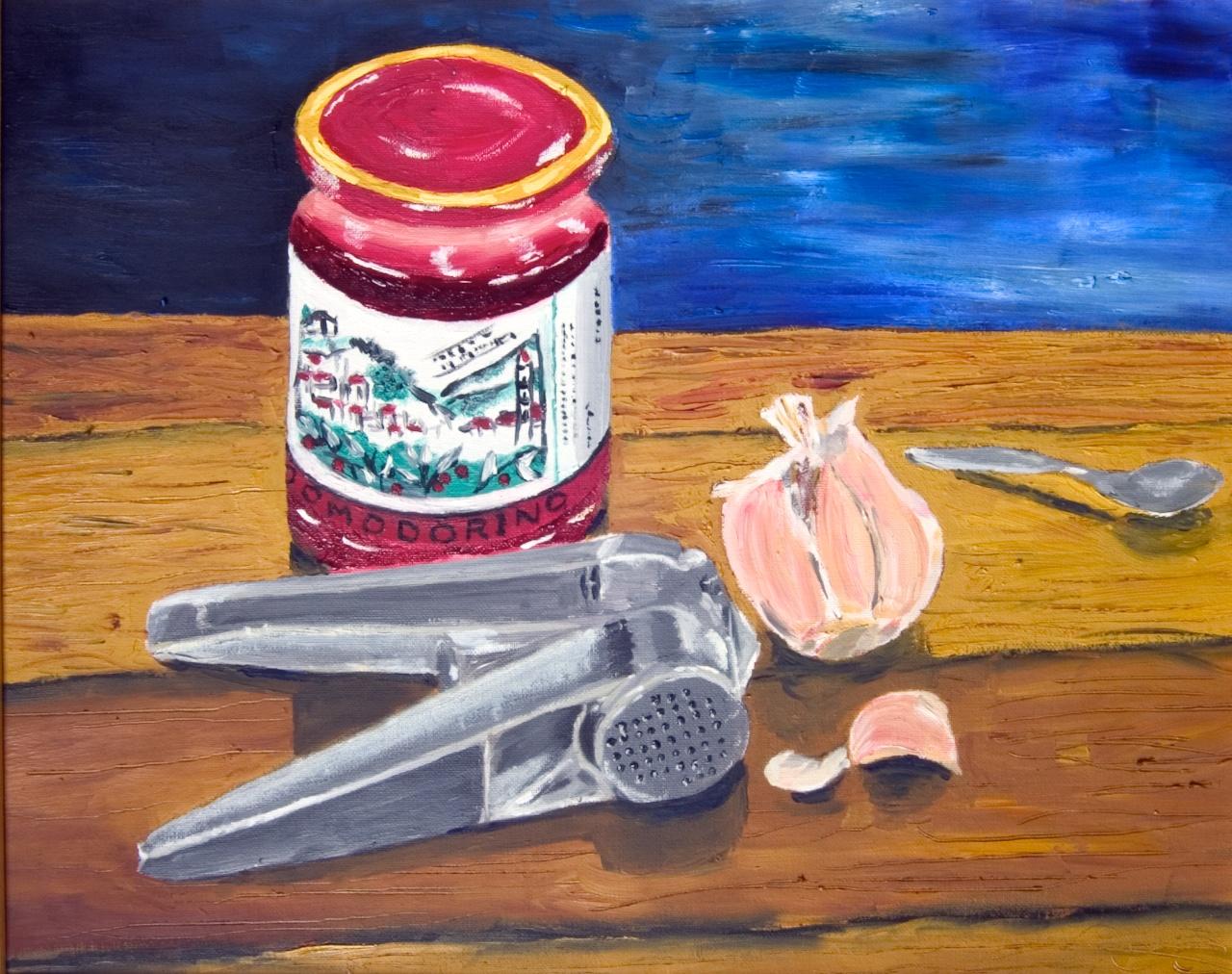 1359Stilleven met pomodorino