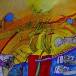 Dyn hoeder, een schilderij van Henk Pietersma over Psalm 121