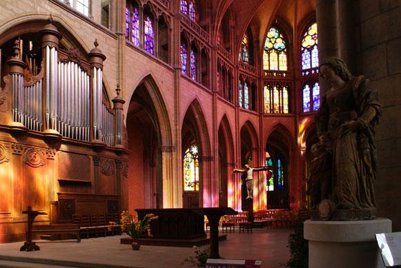 Nevers, kathedraal, intérieur