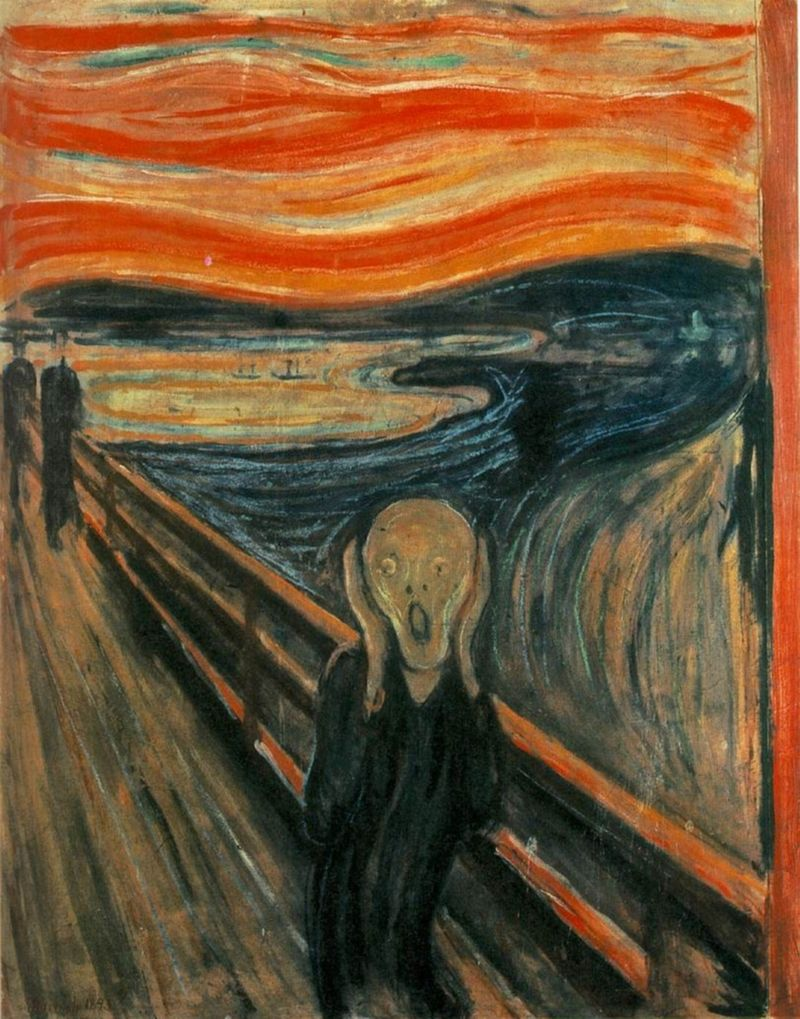 "Edvard Munch, ""Skrik"" 1893"